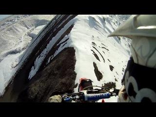 Riding a Bike on Mountain Top